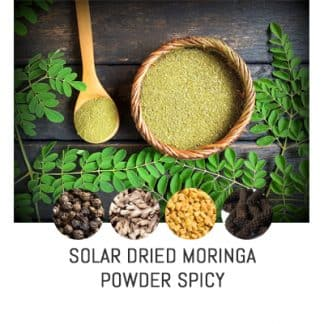 Organic Solar Dried Moringa Powder Spicy
